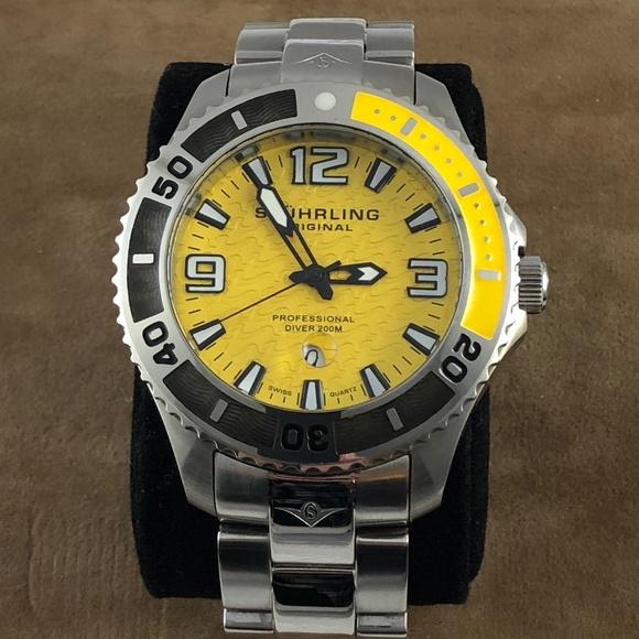 Other - Stuhrling Regatta Valiant Men's Diver Wrist Watch